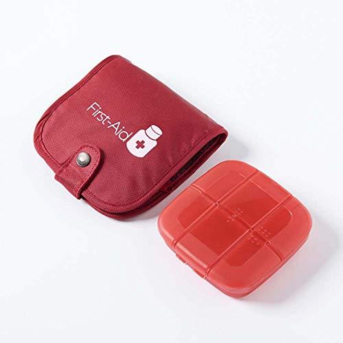 Lecez Bolso de almacenamiento de caja de pastillas, caja de almacenamiento portátil de viajes Juego de botiquín de primeros auxilios bolsa de medicina de emergencia Doble protección y resistencia al d
