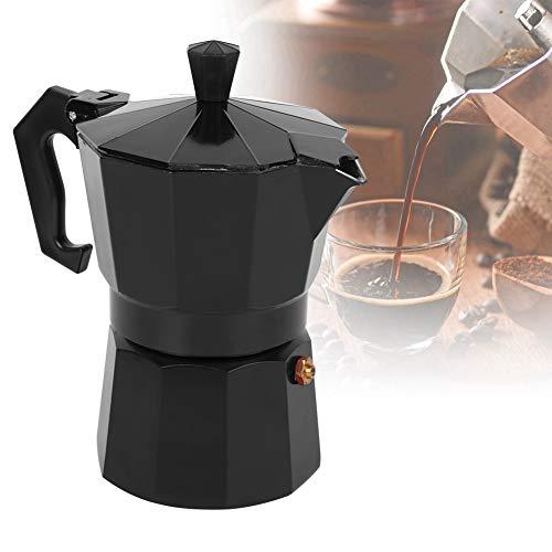Socobeta Suministros de café Aleación de aluminio Cafetera Oficina robusta para el hogar (negro)