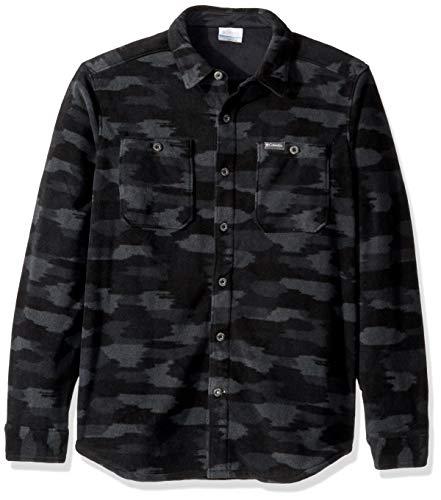 Columbia Men's Flare Gun Fleece Over Shirt, Black camo, Large