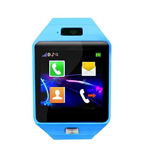 Jingyig Reloj Inteligente para teléfono para niños, Sistema Android/iOS con podómetro, calculadora, Reloj Inteligente para niños, Reloj Inteligente para Llamadas telefónicas con(Blue)