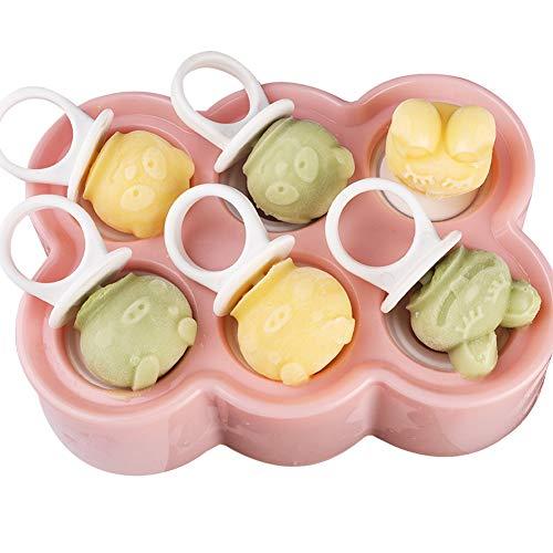 BESLIME ijslolly mallen, popsicle Maker set, gecertificeerd BPA-vrij ijs mallen met anti-pil deksel herbruikbare ijspop mal voor kinderen volwassenen DIY Popsicle schimmel - roze