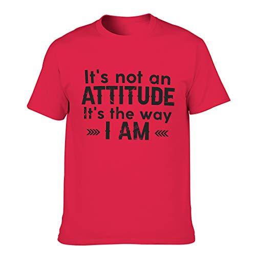 Ouniaodao Camiseta humor divertida para hombre con texto en inglés 'It's Not an Attitud'