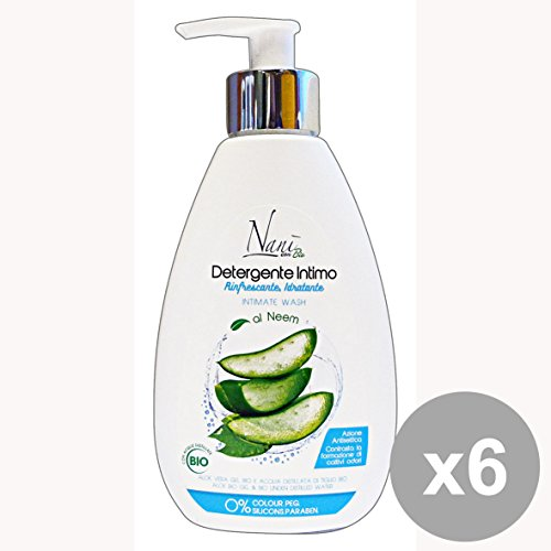 Set van 6 bio-zeep intieme drank, aloë tijger, 200 ml zeep en cosmetica.