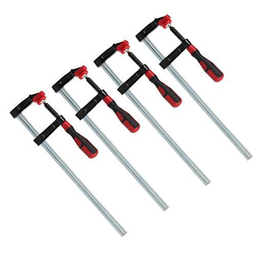 wxf Clips de barra de carpintería de alta resistencia F para trabajos pesados de diapositivas rápidas DIY Kit de herramientas de mano 80 x 600 mm, 4 unidades