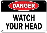 アルミメタルノベルティ危険サイン、アスベストがんと肺の危険性はトレーニング機器が必要、レトロなヴィンテージスタイルのメタルサインの壁の装飾