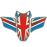 LQCHH Moda For Triumph Tiger 800 2010-2017 de la Motocicleta del Tanque de Aceite del Hueso de Pescados al óleo Decorativa palillo de la protección del Tanque Bien Hecho (Color : 2)