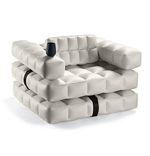 Pigro Felice - Modul'Air 3-en-1 - Fauteuil Gonflable Piscine - Matelas Flottant - Chaise Longue - Matériaux résistants - Longue Durée de Vie - Premium - Gris