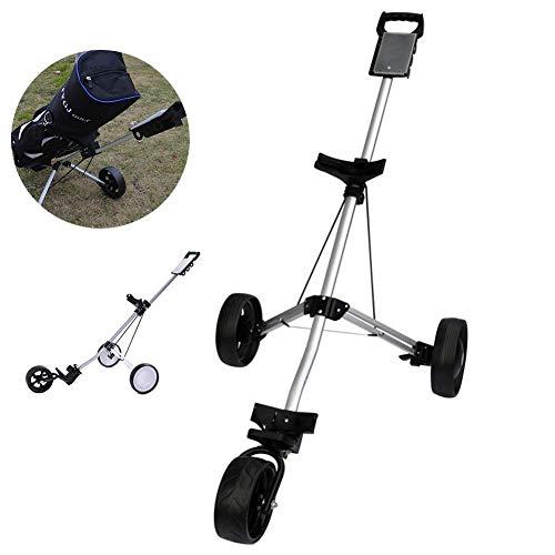3-Rad-Golf-Schubwagen mit Fußbremse Leichter, klappbarer Golf-Trolley Eine Sekunde zum Öffnen und Schließen