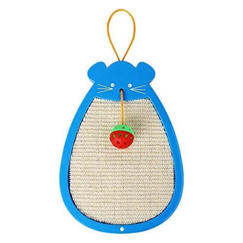 Griffoirs - Tabla para rascar gatos con bola de rascador de gato, rascador de pared, rascador antiarañazos