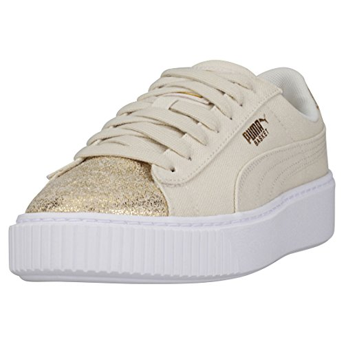 Puma Sneakers Basket Platform Canvas Wn's Gold 366494-01 - 40, Oro