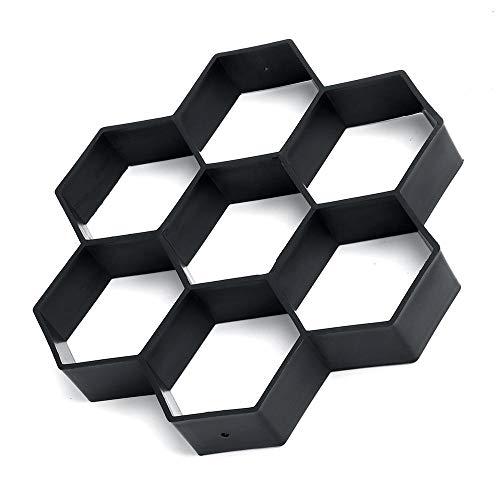 XCQ DIY Sechseck Pave Maker Form Kunststoff Garten Pflasterung Ziegel Mold Pflaster Zement Ziegel Mold Dauerhaft 0327