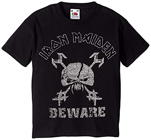 Iron Maiden Final Frontier Pas op Kids Glitter T Shirt