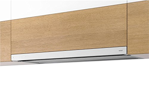 Berbel Glassline BEH 90 GL Flachschirmhaube Weiß Einbauhaube Dunstabzugshaube