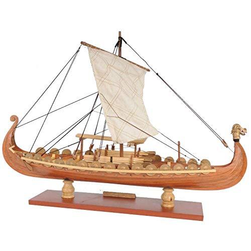 JHSHENGSHI Modelo de Barco Decoraciones para Sala de Estar Modelo de embarcación Modelo de Barco Drakkar Dragón Velero clásico Modelo de Barco Kits de construcción Decoración