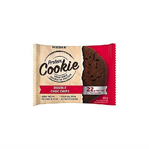 Weider- Protein Cookies- 12 x 90g. Galleta de proteínas 100% vegana. Double Choco Chip