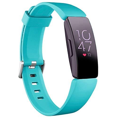 Oielai Compatibile con Cinturino Fitbit Inspire HR/Cinturini Fitbit Inspire 2, Silicone Impermeabile Cinturini di Ricambio Sportivi per Fitbit Inspire/Inspire 2/Ace 2/Fitbit Inspire HR,Piccolo Teal