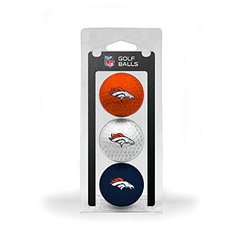 Lowest Price! Team Golf NFL Denver Broncos Regulation Size Golf Balls, 3 Pack, Full Color Durable Te...