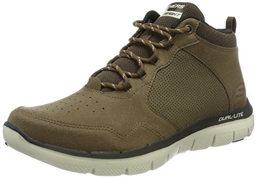 Skechers Flex Advantage 2.0, Zapatillas Altas Hombre, Marrón (Chocolate), 43 EU