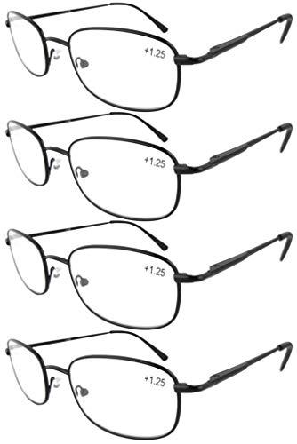 Eyekepper metal marco gafas de lectura con bisagra con resorte (4unidades)