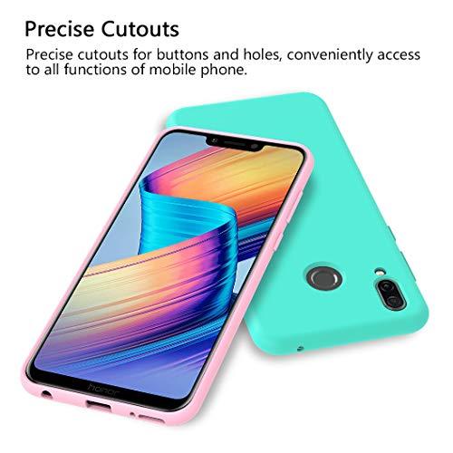 VGUARD [6 Stücke] Hülle für Huawei Honor Play, Ultra Dünn Tasche Schutzhülle Weiche TPU Silikon Gel Handyhülle Case Cover (Schwarz + Blau + Rot + Grün + Rosa + Transparent) - 3