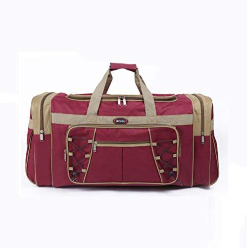 Fslt New waterproof men's travel bag huge duffel bag men's duffel bag portable travel tote bag large weekend bag messenger bag-Red