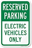 SmartSign 'Reserved Parking - Electric Vehicles Only' Sign | 12' x 18' Aluminum