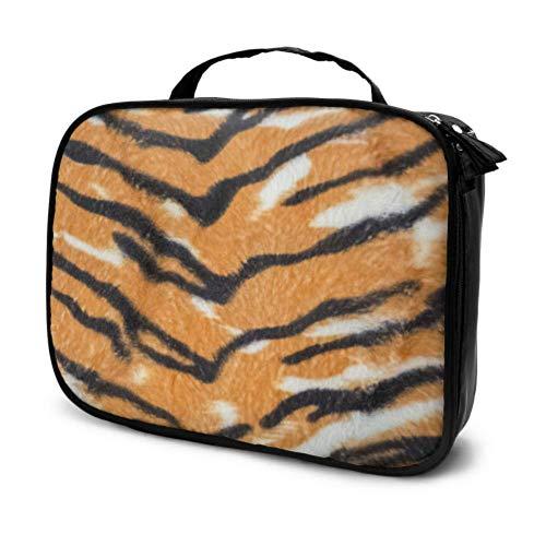 Animal Skin Tiger Stripes Bolsa de baño de Viaje Negra para
