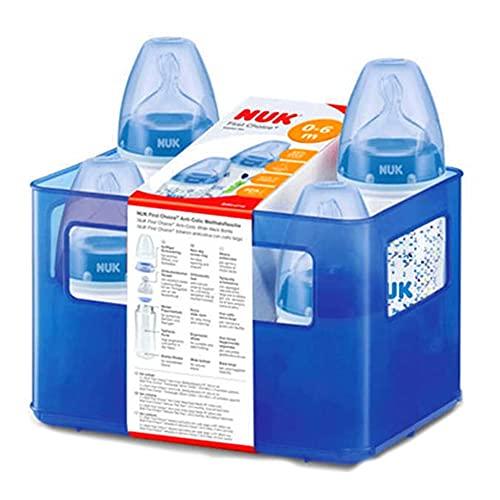 NUK First Choice Plus 10225106 Boy Juego de 4 biberones anti-cólico...