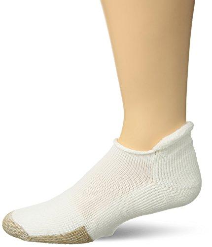 Thorlos Unisex T Tennis Thick Padded Rolltop Sock, White, Medium