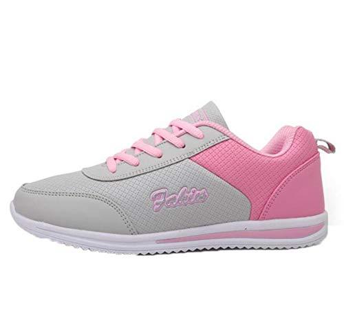 Zapatos Deportivos para Mujer, Zapatillas Deportivas de Color con Costuras para Llevar, Zapatillas Deportivas clásicas de Moda cómodas con Estilo Deportivo de PU para Gimnasio