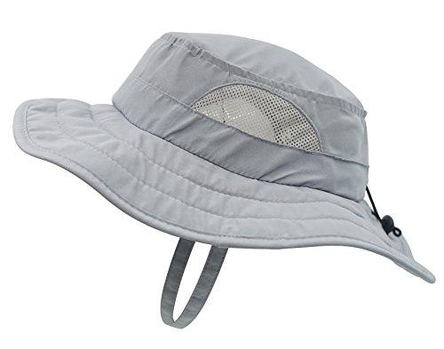Connectyle Kids UPF 50+ Mesh Safari Sun Hat UV Sun Protection Hat Summer Daily Bucket Play Hat ,48-54cm
