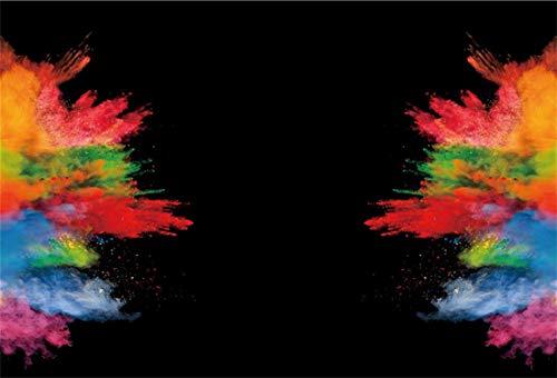 Yeele 7x5ft Abstract Smoke Backdrop Colorful Powder Dust Smoke Fume Explode Smog Paint Burst Splash...