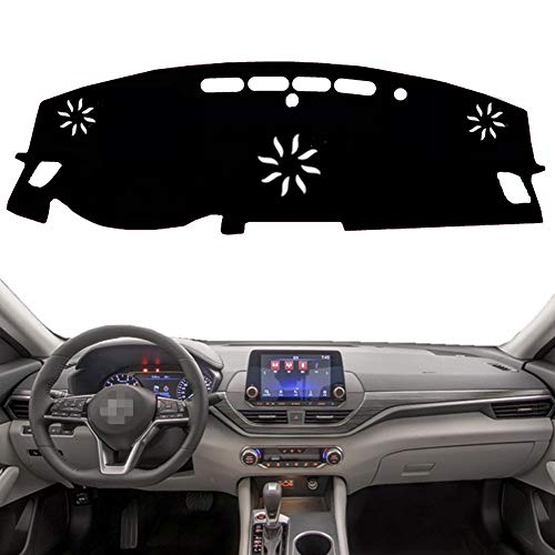 PGONE Custom Fit Dashboard Black Center Console Cover Dash Mat Protector Sunshield Cover Pad Carpet for 2019 Nissan Altima (Black)