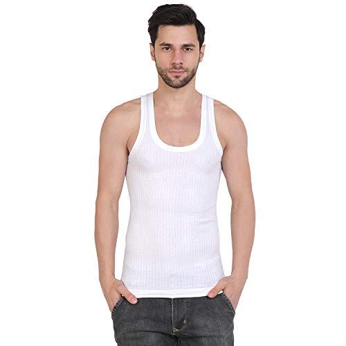 Macho Mens Parka Cotton Vest, Pack of 1 (90 cm) White