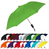 "STROMBERGBRAND UMBRELLAS Spectrum Popular Style 15"" Automatic Open Umbrella Light Weight Travel Folding Umbrella for Men and Women, (Lime Green)"