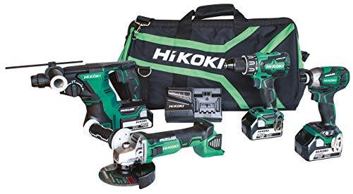 HiKOKI KC18DG4L KC18DG4L-Kit DV18DBSL + WH18DBDL2 + DH18DBL + G18DBL + 3 batterie 5 Ah + Borsone, 18 V
