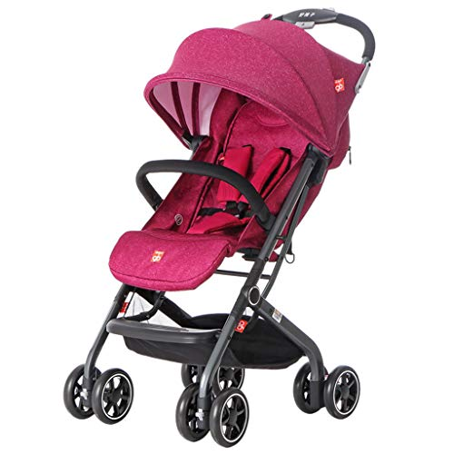 Read About Xinjin Folding Stroller, Portable Reclining Trolley, Equipped with 8 Wheel Suspension, Fo...