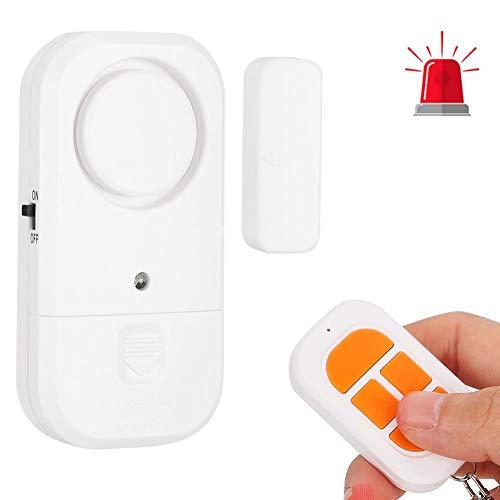 Draadloos deurbel open alarm, 125dB multifunctionele deur/raam magnetische sensor Inbraakalarm Beveiligingssysteem met afstandsbediening voor thuis/op kantoor