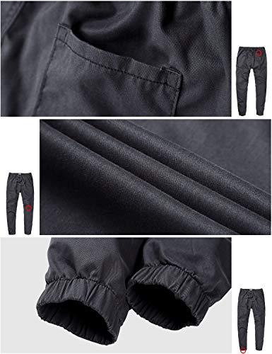 Match Men's Loose Fit Chino Washed Jogger Pant (32, 6566 Dark gray)