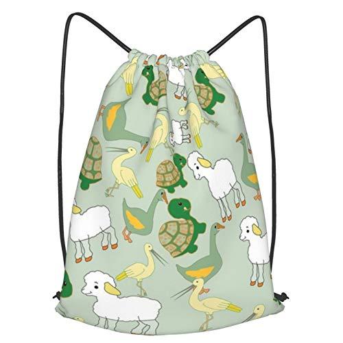 We All Love Animals - Mochila de viaje con cordón, mochila ligera para hombres y mujeres