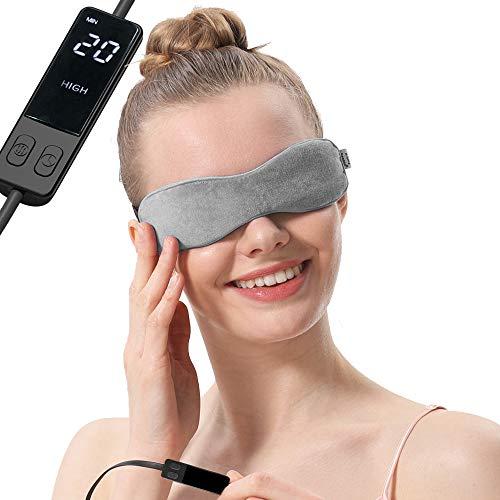 AROMA SEASON® | Elektrisch beheizbare Maske | Wärmende Augenmaske | Gegen Blepharitis, Gerstenkorn, Augenringe, Trockene Augen