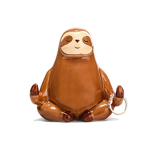 Ceramic Sloth Ring Holder, Funny Sloth Jewelry Holder Stand Engagament Wedding Birthday Christmas Gifts