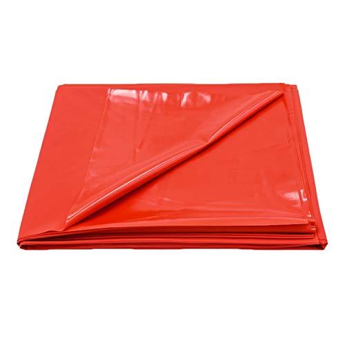LLFX Leder-Matratze für Paare, wasserdicht, weich und bequem, verstellbar, Rot