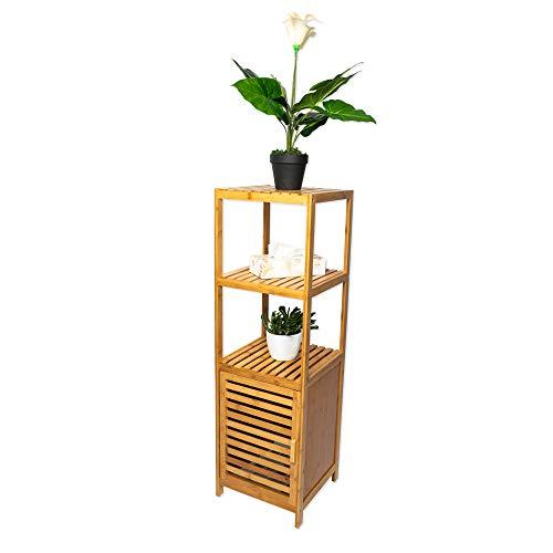 ambico Badschrank Marino Badregal aus Bambus - Badezimmerregal, Badezimmerschrank aus Holz - Maße: 34x33x110 cm - natürliche Optik