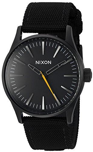 Nixon Men's 'Sentry 38' Quartz Nylon Watch, Color:Black (Model: A426001-00)