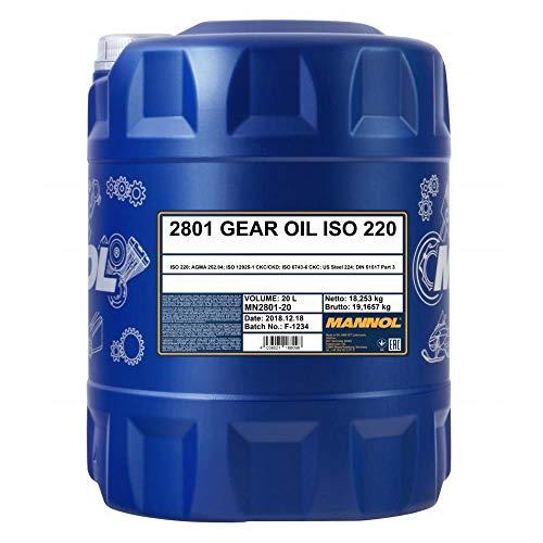 MANNOL 1 x 20L Gear Oil ISO 220/Getriebeöl Viskositätsindex VI für Industrie