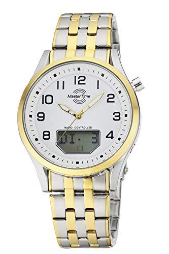 Master Time Reloj analógico digital para hombre de cuarzo con correa de acero inoxidable MTGA-10718-22M