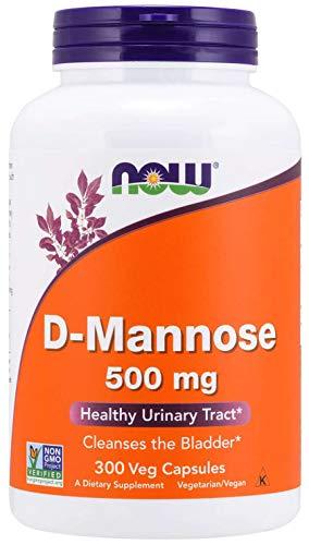 Now D-Mannose 500 mg, 300 Capsules - Vegan, Non-GMO