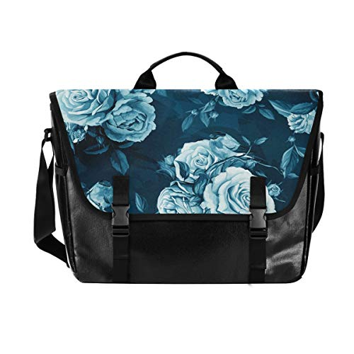 Hunihuni - Bolso de Mensajero, diseño de Flores de peonía y Rosa par