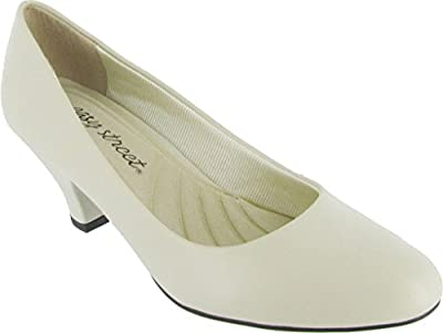 Easy Street Women's Fabulous,Bone Synthetic,US 7.5 N